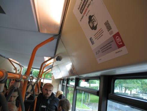 Oznaka WIFI v mestnem avtobusu