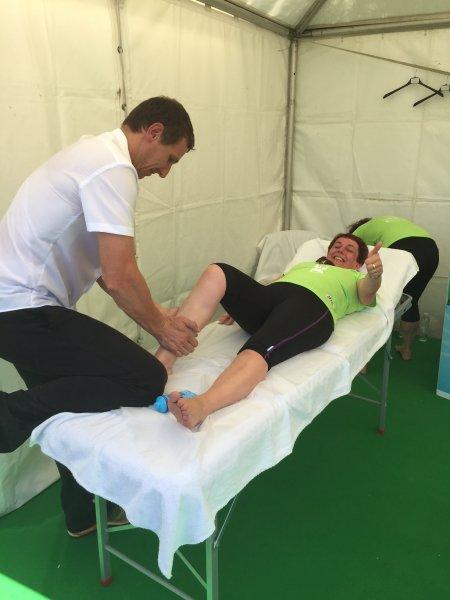 Servisiranje z masažo utrujenih mišic na DM teku